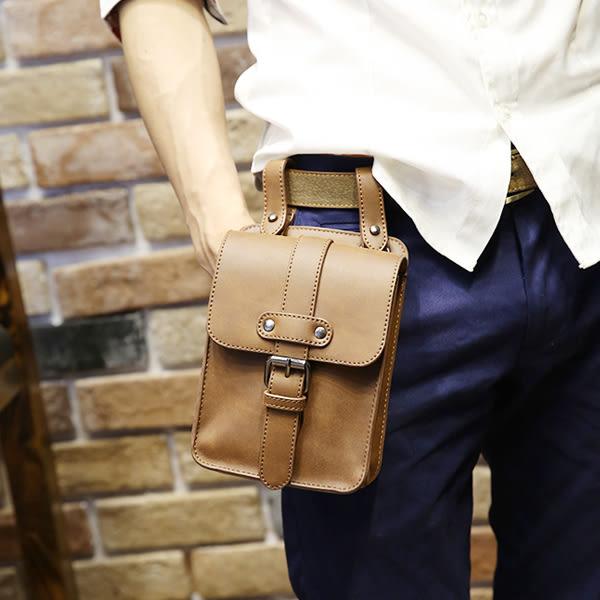 穿皮帶腰包 男零錢手機掛包【非凡上品】x339