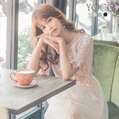東京著衣【YOCO】韓妞單品多色蕾絲花邊荷葉袖上衣(181228)
