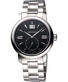 AEROWATCH Renaissance 大視窗小秒針腕錶-黑/銀 A41937AA07M