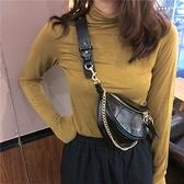 2021網紅新款褶皺腰包小香風菱格包圓環飾手提單肩包斜背胸包包女 「99購物節」