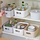 雜物收納筐學生桌面零食儲物盒塑料化妝品收納盒家用廚房整理盒子 『歐尼曼家具館』