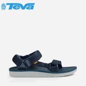 丹大戶外【TEVA】美國 男款Original Universal Premier 輕量經典設計織帶涼鞋 1015192 NAVY 海軍藍