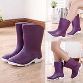 新品雨鞋女短筒成人韓國水鞋防滑保暖時尚中筒水靴加絨雨靴【全館八八折促銷】