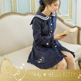 外套 Hello Kitty x Ruby 聯名款.學院風水手領荷葉外套-Ruby s 露比午茶