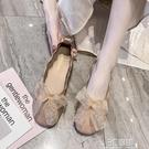 平底鞋 春夏新款韓版孕婦平底單鞋女時尚百搭蝴蝶結豆豆鞋軟底奶奶鞋 3C優購