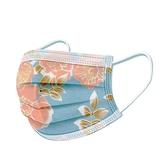 文賀生技醫用口罩 (未滅菌)-三層醫療口罩-花語系列-海洋藍 30入/盒
