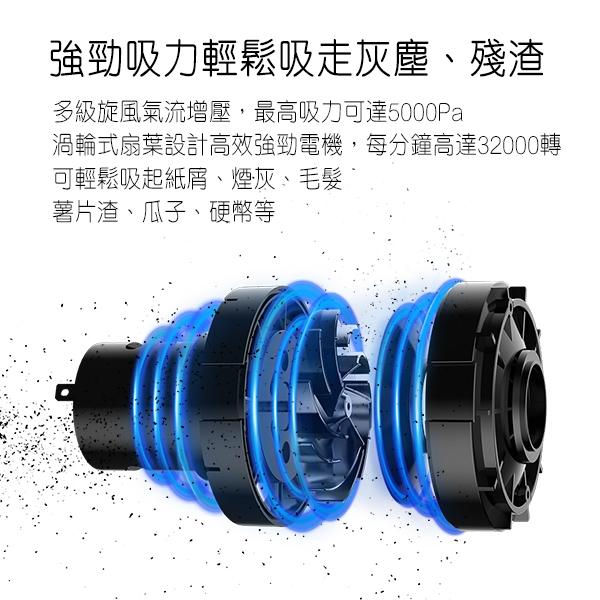 【coni shop】清蜓車載便攜吸塵器 小米 有品 HEPA淨化 LED燈 小巧便攜 無線手持 現貨