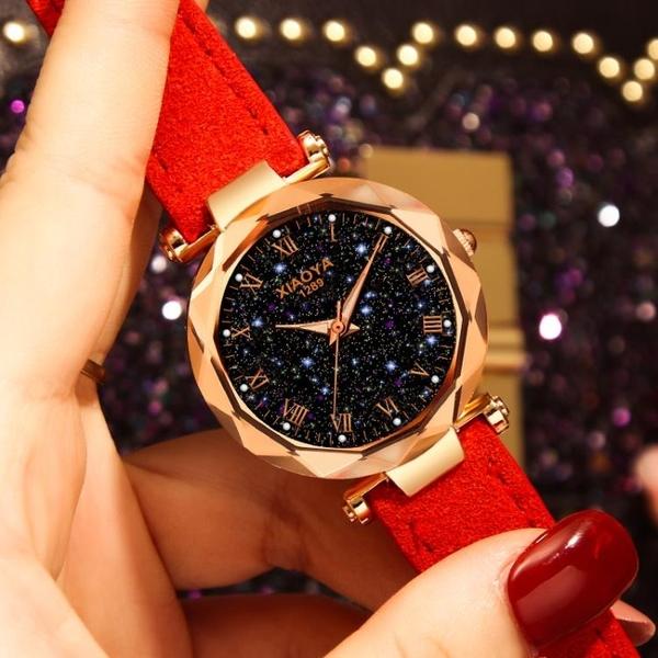 手錶 星空女士時尚韓版時尚中學生夜光防水大氣質手錶 【美斯特精品】