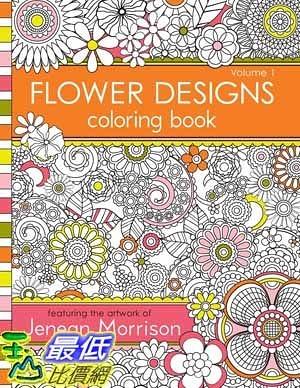 [104美國直購] 2015 美國暢銷書排行榜 Flower Designs Coloring Book