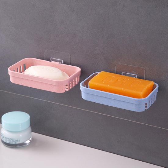 肥皂盒 壁掛 菜瓜布架 瀝水架 無痕背膠 香皂架 免打孔 小麥壁掛肥皂架(單層)【X008】慢思行