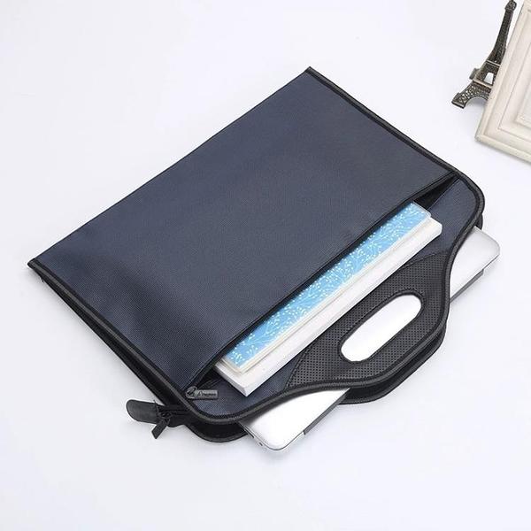 公事包 公文包男商務簡約手提A4文件包帆布大容量辦公袋女多層會議資料袋