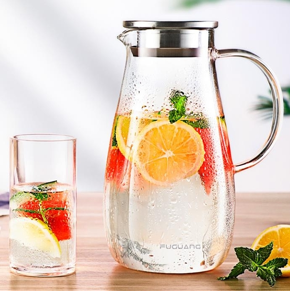泡茶壺 涼水壺玻璃耐高溫耐熱家用冷水壺大容量涼白開水杯泡茶壺套裝