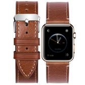 錶帶戈布真皮錶帶男女通用apple watch1/2/3代手錶帶38/42mm潮蘋果 野外之家