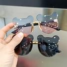 兒童眼鏡太陽鏡防紫外線男女童時尚可愛寶寶小熊耳朵墨鏡造型拍照【快速出貨】