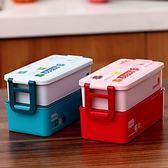 便當盒 多層飯盒可微波飯盒餐盒 可微波飯盒餐盒 日式創意可愛便當盒  瑪麗蘇