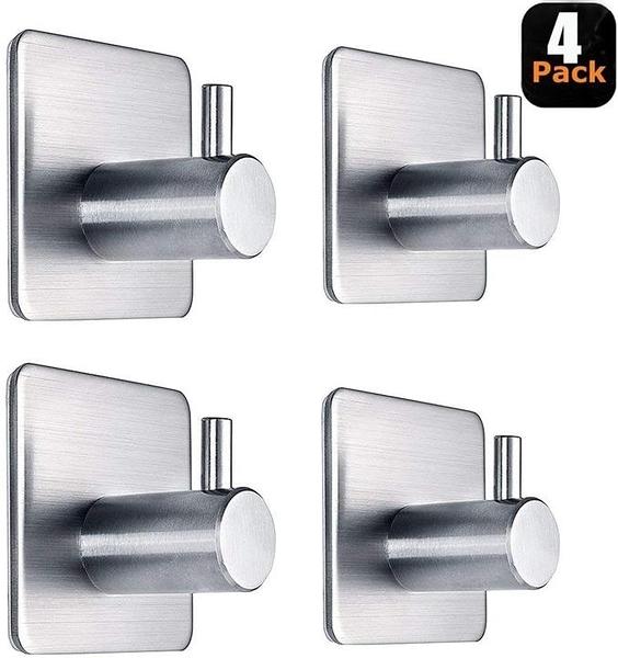【美國代購】Adhesive Hooks 粘鉤重型壁鉤防水不銹鋼鉤