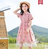 裙韓版童裝女童洋裝/連衣夏裝2021新款中大童兒童裙子夏網紅女孩公主裙 美眉新品