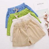 棉麻短褲女夏季韓版大碼寬鬆百搭高腰顯瘦薄款五分休閒褲 糖果時尚