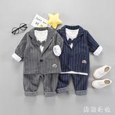 男童禮服 男童西裝套裝三件套男寶禮服小童小西服OB3833『美鞋公社』