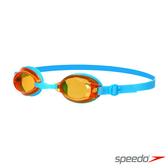 【線上體育】SPEEDO兒童泳鏡Jet藍/橘