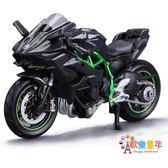 美馳圖1 18杜卡迪雅馬哈川崎摩托車模型擺件成人玩具仿真合金機車