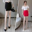 窄裙 彈力性感包臀包裙短款窄裙一步裙半身短裙A字韓版顯瘦女夏季薄款 韓菲兒