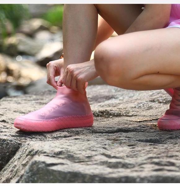 雨鞋 雨鞋套防水防滑雨天加厚耐磨底硅膠腳套加厚雨鞋女男學生雨靴鞋套 非凡小鋪 新品