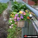 3個裝 花盆架園藝吊蘭綠蘿多肉陽臺欄桿懸掛鐵藝【探索者】