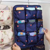 衣櫃內衣褲收納袋牆壁懸掛式掛袋宿舍襪子掛式收納布藝衣櫥整理袋  卡布奇諾