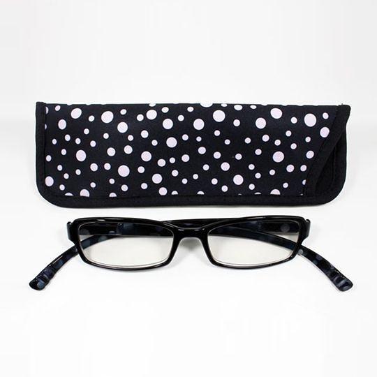 日本專利設計老花眼鏡 Neck Readers (黑白圓點) 可濾藍光、抗紫外線【S Life 若返生活】