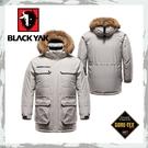 【BLACKYAK 韓國 中性Gore-Tex軍裝連帽羽絨長外套《米白》】BY162NJ90181/滑雪賞雪/防水外套