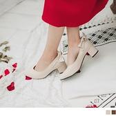 《SD0233》蝴蝶結兩穿瑪莉珍粗跟鞋/高跟鞋 OrangeBear