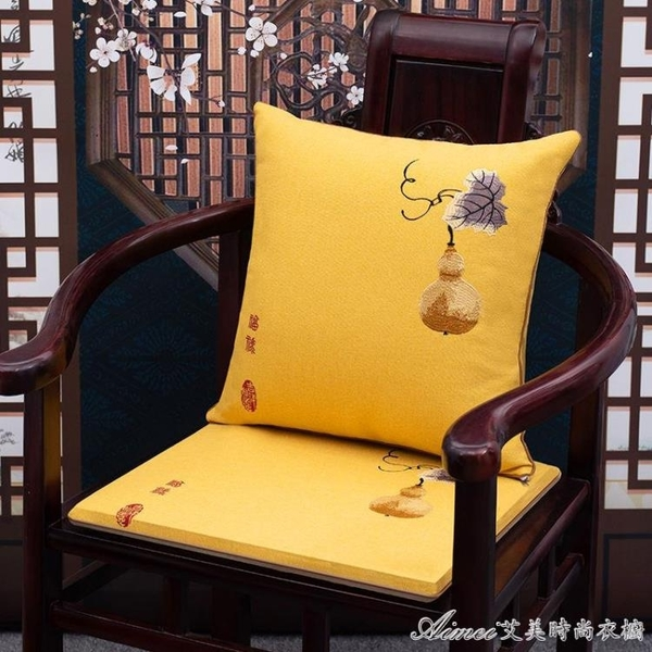 餐椅坐墊紅木椅墊沙發墊防滑加厚中式實木圈椅坐墊餐椅太師椅墊可拆洗 快速出貨YJT