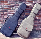 個性搖滾加厚電吉他電貝斯包背包貝司琴盒琴包吉他袋套 FF4272【Pink 中大尺碼】