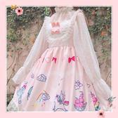 洛麗塔洋裝-洛麗塔洋裝公主裙日系學生蕾絲軟妹仙女甜美日常無袖lolita洋裝 花間公主