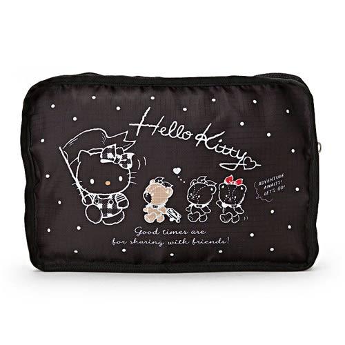 Sanrio HELLO KITTY小熊旅行系列可折疊輕便旅用提背袋★funbox★_813265