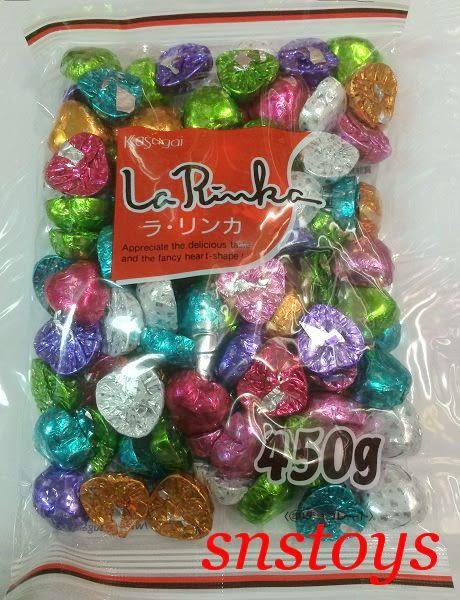 sns 古早味 進口食品 巧克力 春日井巧克力 心心巧克力 愛心巧克力 心型巧克力 450g 日本進口