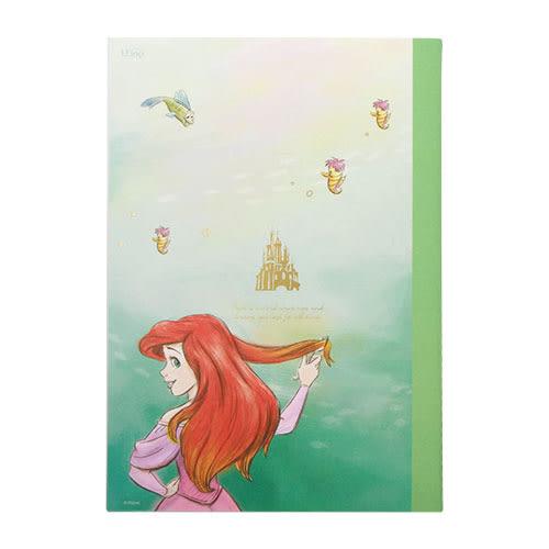 《LEing》迪士尼公主A5縫線式平裝彩頁筆記本(水彩手繪愛麗兒)★funbox生活用品★_RD00257