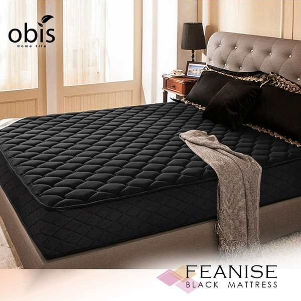 單人床墊 鑽黑系列-FEANISE二線獨立筒無毒床墊[單人3.5×6.2尺]【obis】