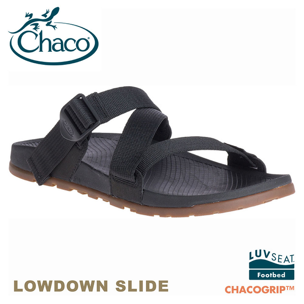 【CHACO 美國 男 LOWDOWN SLIDE休閒拖鞋《黑》】CH-LSM01H405/休閒涼鞋