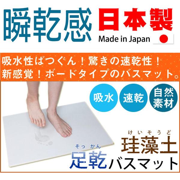 Fujiwara 藤原 矽藻土 珪藻土 (小) 小尺寸 S型 衛浴 踏墊 自然素材 抗菌 日本製 足乾浴室地墊 踏墊