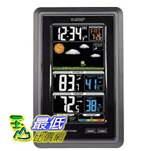 [美國直購] La Crosse Technology S88907 天氣觀測 溫度濕度計 Vertical Color Forecast Station