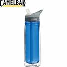 【CamelBak 美國 600ml 多水雙層吸管水瓶 藍】53377/運動水壺/水壺/耐撞擊/登山/露營