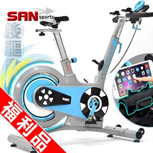 (福利品)競速後驅動18KG飛輪健身車(皮帶傳動)18公斤飛輪車動感單車公路車自行車訓練機台