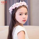 兒童頭飾花環白色女童韓版頭花發箍寶寶頭紗花童禮服飾頭箍發飾 卡米優品