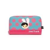 Backbager 背包族【Paul Frank大嘴猴】 繽紛點點家族小物系列長夾/皮夾/零錢包/手機套_ 藍色兔
