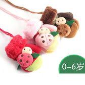 兒童手套冬保暖加絨加厚可愛卡通1/2/3歲小孩男女童寶寶針織連指【onecity】