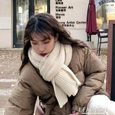 韓版ins毛線針織圍巾女秋冬季加厚保暖圍脖學生純色潮紅色百搭款-ifashion