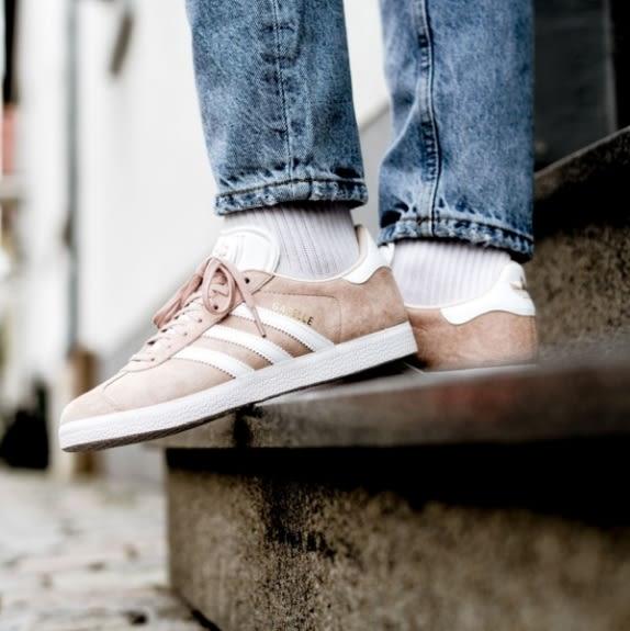 Adidas Original Gazelle 奶茶色 水源希子 金標 休閒鞋 女 B41660 ☆SP☆