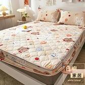 純棉床包單件加厚夾棉防滑固定全棉床罩席夢思床墊防塵全包【白嶼家居】